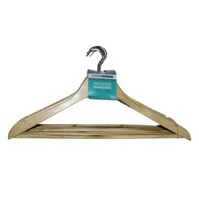 Image of 10 Pack of Wooden Hangers