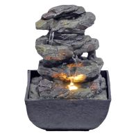 See more information about the Stone Effect Indoor Table Top Illuminated Water Fountain