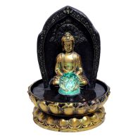 See more information about the Buddha & Ball Table Top Water Fountain With LED
