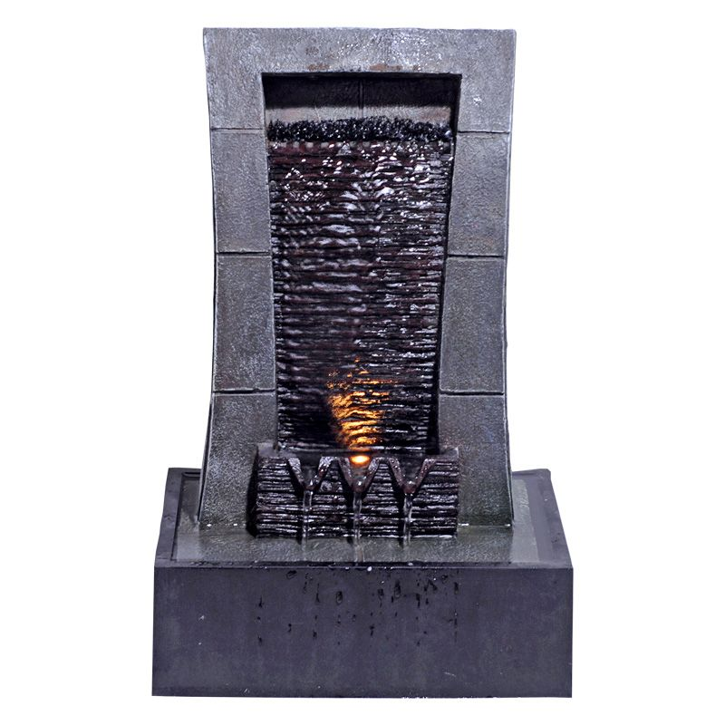 Large Indoor Stone Effect Table Top Illuminated Water Fountain