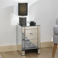 See more information about the Venetian Mirrored Slim Chest Of 2 Drawers