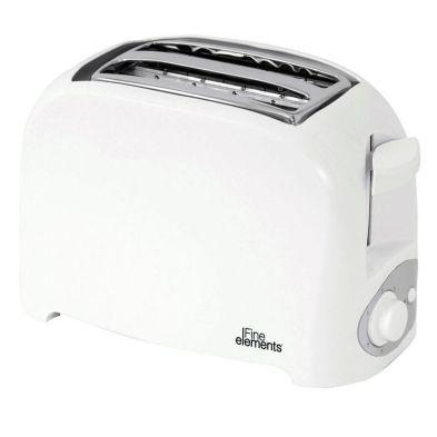 Image of Fine Elements Plastic 2 Slice Toaster - White