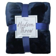 See more information about the Hudson Throw 125x150 Navy Blue