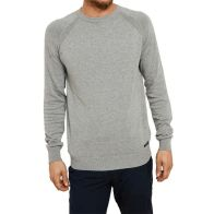 See more information about the Mens Threadbare Knitwear Round Neck Jumper Grey Small