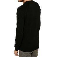 See more information about the Mens Threadbare Knitwear Round Neck Jumper Black Small