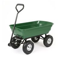 See more information about the Green 4 Wheel Tipping Garden Cart 75L Load Capacity