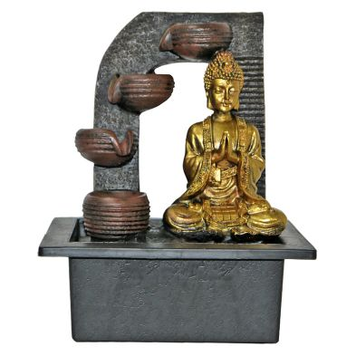 10inch Buddha Indoor Water Fountain With LED Light
