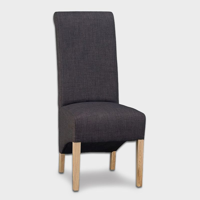Lancelot Scroll Back Dining Chair Grey
