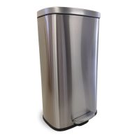 See more information about the Wide Stainless Steel Pedal Bin 30 Litre
