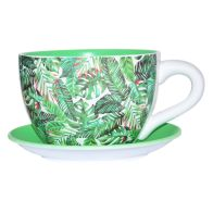 See more information about the Tropical Leaf Tea Cup Planter