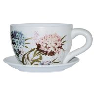 See more information about the Flower Design Tea Cup Planter