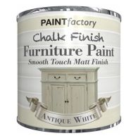 See more information about the Paint Factory Chalk Finish Furniture Matt Paint 250ml - Antique White