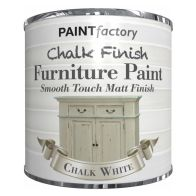 See more information about the Paint Factory Chalk Finish Furniture Matt Paint 250ml - Chalk White