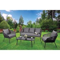 See more information about the Farsk Aluminium 4 Piece Sofa Summer Furniture Set