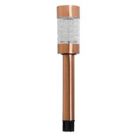 See more information about the Bright Garden Metal Solar Light - Brushed Copper Finish