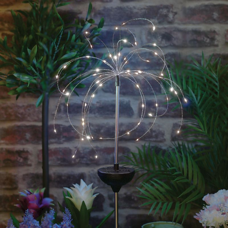Bright Garden Solar Starburst Stake Light Warm White Buy