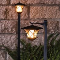 See more information about the Bright Garden Dual Function Flame Solar Post Light