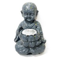 See more information about the Bright Garden Little Monk Solar Light Floral Bowl