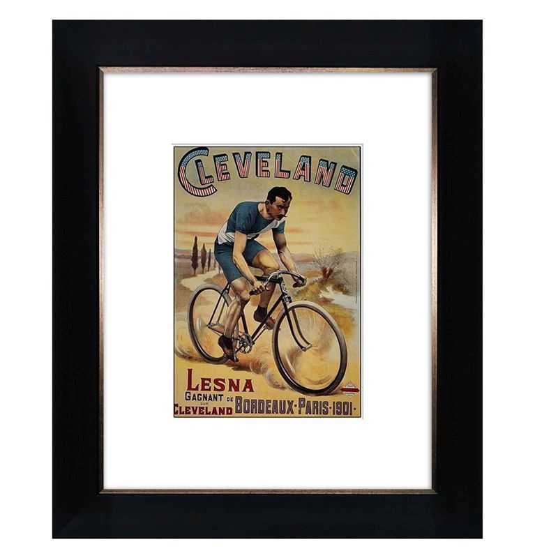 Cycling Cleveland Framed Print Wall Art 10 x 8 Inch