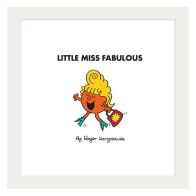 See more information about the Little Miss Fabulous Framed Print Wall Art 10 x 10 Inch