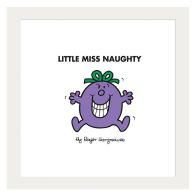 See more information about the Little Miss Naughty Framed Print Wall Art 10 x 10 Inch