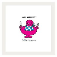 See more information about the Mr Men Mr Greedy Framed Print Wall Art 10 x 10 Inch