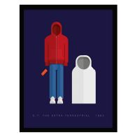 See more information about the Sci-Fi Costumes ET & Elliot Framed Print Wall Art 14 x 11 Inch