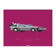 See more information about the Movie Transport De Lorean Framed Print Wall Art 14 x 11 Inch