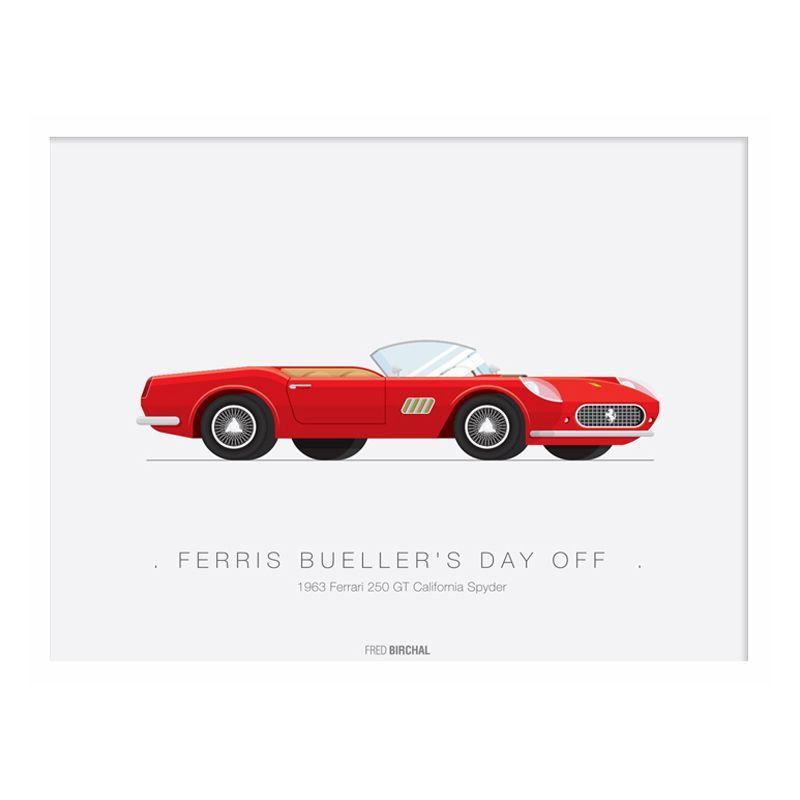 Transport Ferrari: Movie Transport 1963 Ferrari Spyder Framed Print Wall Art