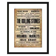 See more information about the Concert Poster Rolling Stones Framed Print Wall Art 16 x 12 Inch