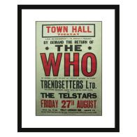 See more information about the Concert Poster The Who Framed Print Wall Art 16 x 12 Inch