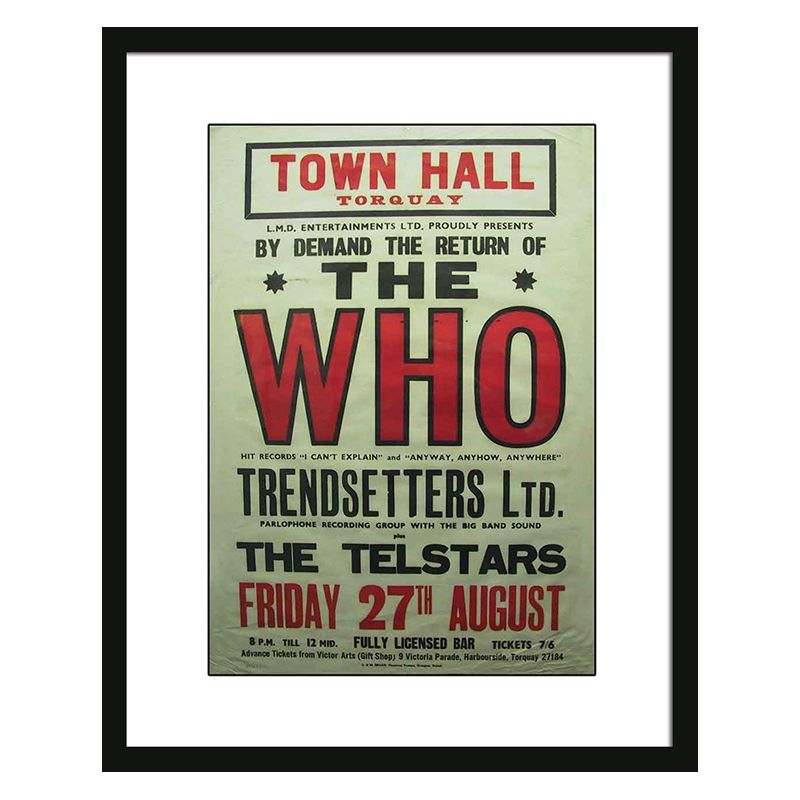 Concert Poster The Who Framed Print Wall Art 16 x 12 Inch