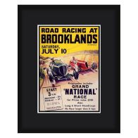 See more information about the Grand Prix Poster Brooklands Framed Print Wall Art 16 x 12 Inch