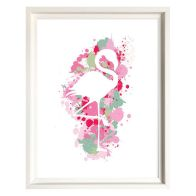 See more information about the Splatter Art Flamingo Framed Print Wall Art 16 x 12 Inch