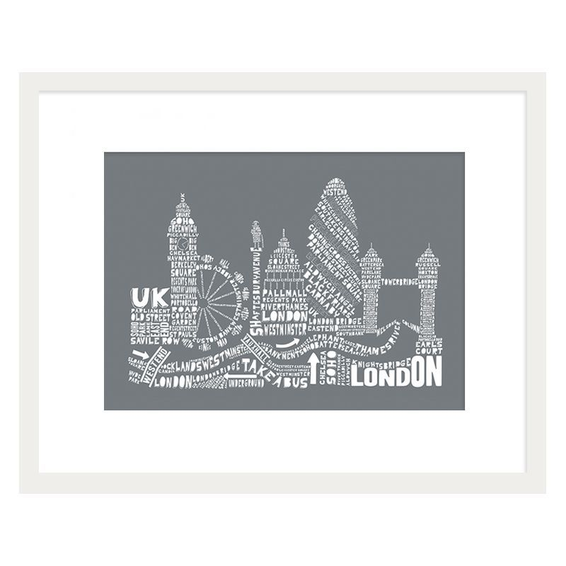 Citography London Framed Print Wall Art 16 x 12 Inch