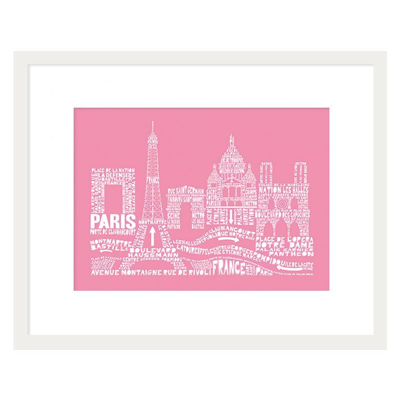 Citography Paris Framed Print Wall Art 16 x 12 Inch