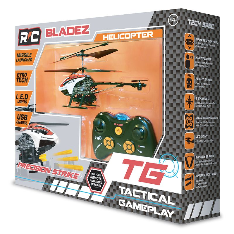 Bladez Remote Control Missle Launching Helicopter