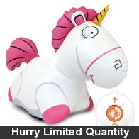 See more information about the Bladez Minions Remote Control Inflatable Fluffy Jumbo Unicorn & Sounds