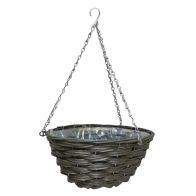 See more information about the 12 Inch Traditional Hanging Rattan Basket Natural