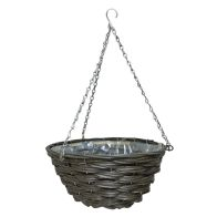 See more information about the 14 Inch Traditional Hanging Rattan Basket Natural