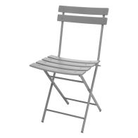 See more information about the Folding Bistro Chair Oval Frame - Grey