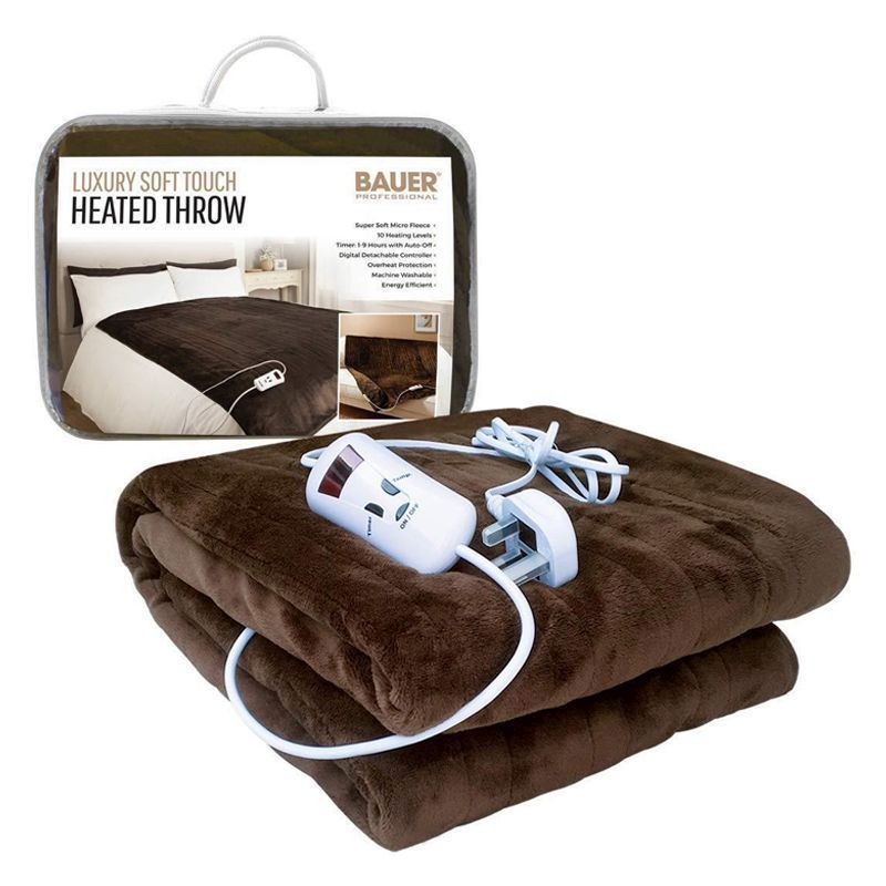 Bauer Luxury Soft Touch Heat Adjustable Programmable Throw 120x160cm