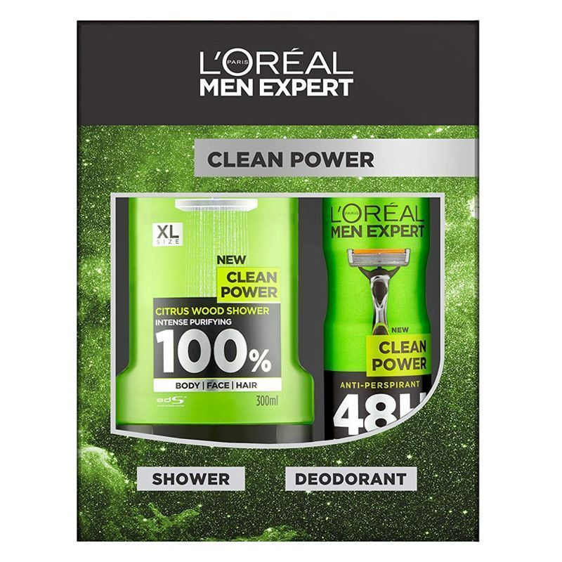 See more information about the L'Oreal Expert Clean Power Shower Gel 2 Piece Gift Set