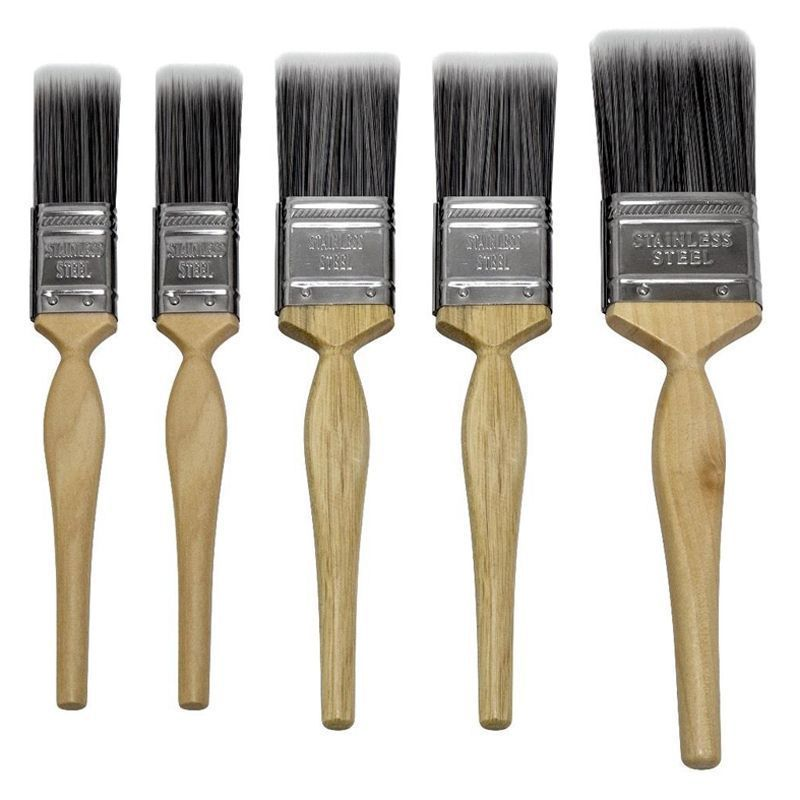 5 Pack Sapphire Assorted Paint Brushes