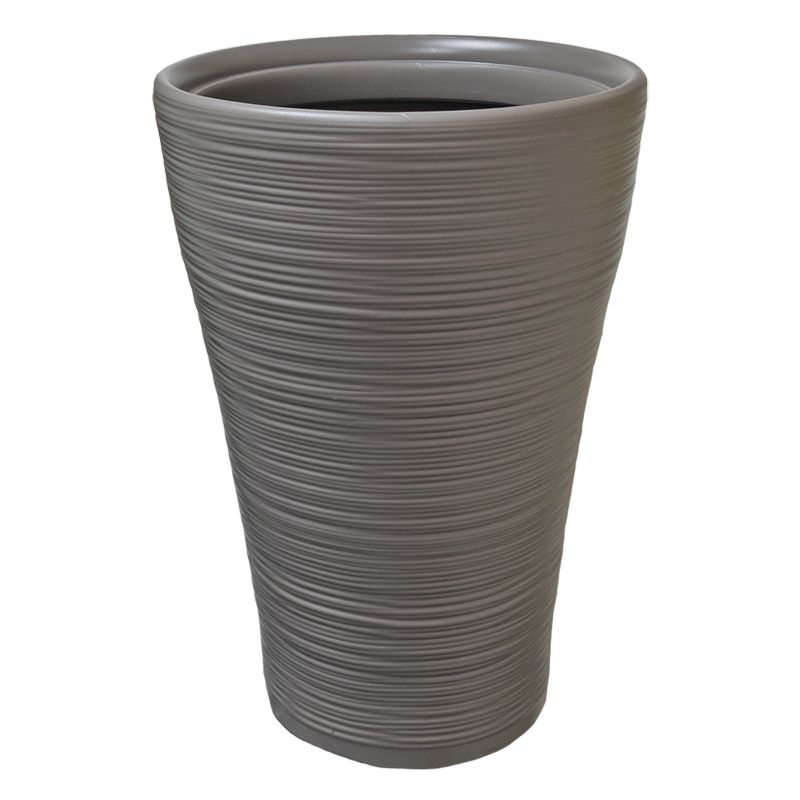 47cm Tall Round Hereford Planter Taupe