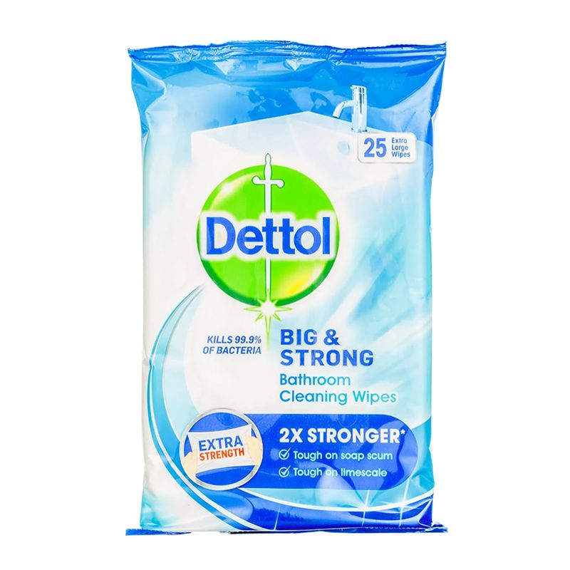Dettol Big & Strong Bathroom Cleaning Wipes 25 Pack - Buy ...
