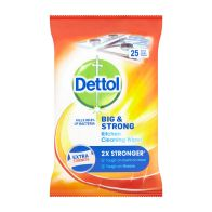 See more information about the Dettol Big & Strong Kitchen Cleaning Wipes 25 Pack