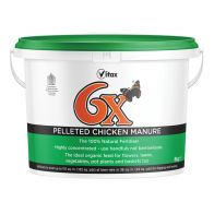 See more information about the Vitax 6X Pelleted Chicken Fertiliser 8kg Tub