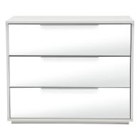 See more information about the Bergen 3 Drawer Mirrored Chest White