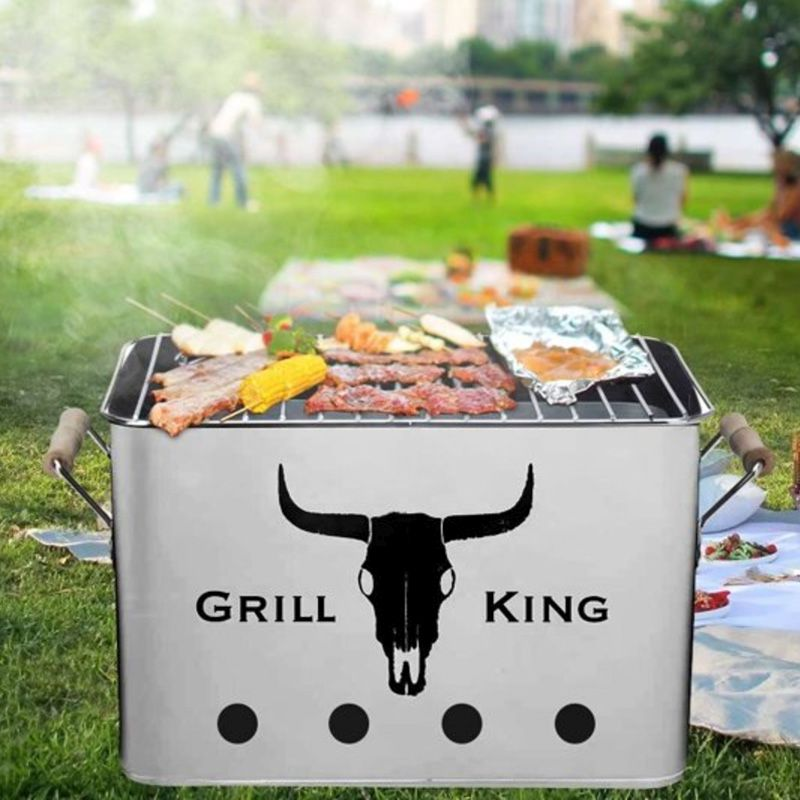 12 Inch Rectangular Grill King BBQ